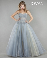 Jovani 4000 Lace Gown with Sheer Cut Outs image