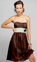 Alexia Designs Two Tone Bella Chiffon Short Bridesmaid Dress 4006 image