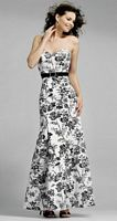 Alexia Designs Black and White Floral Print Bridesmaid Dress 4010 image