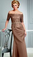 Caterina by Jordan Lace and Satin Mother of the Bride Dress 4036 image