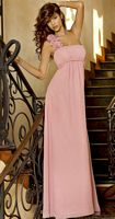 Alexia Designs Rosette One Shoulder Chiffon Bridesmaid Dress 4042 image