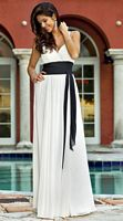Alexia Designs Two Tone Chiffon Long Bridesmaid Dress 4046 image