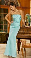 Alexia Designs Strapless Satin Long Bridesmaid Dress 4048 image