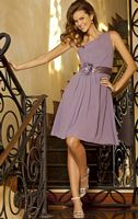 Alexia Designs One Shoulder Short Chiffon Bridesmaid Dress 4056 image