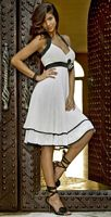 Alexia Designs Knee Length Two Tone Halter Bridesmaid Dress 4060 image