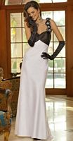 Alexia Designs One Shoulder Two Tone Flower Bridesmaid Dress 4066 image
