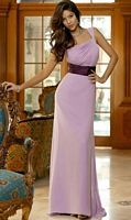 Alexia Designs Two Tone Pleated One Shoulder Bridesmaid Dress 4068 image