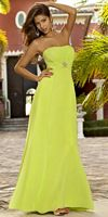Alexia Designs Strapless Empire Long Bridesmaid Dress 4074 image
