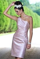 Alexia Designs 4124 One Shoulder Short Bridesmaid Dress image