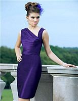 Alexia Designs 4132 Short Asymmetrical Bridesmaid Dress image