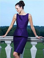 Alexia Designs 4136 Mock 2pc Short Bridesmaid Dress image