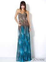 Jovani 4213 Strapless Ruched Bust Gown image