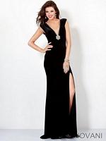Jovani 4220 Jersey Plunging Neck Formal Dress image