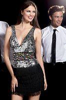 Alyce Cocktail Dress with Deep V Neckline 4244 image