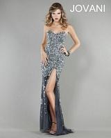 Jovani 4247 Beaded Chiffon Evening Dress image