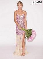 Jovani 4248 Sheer Tulle Formal Dress image