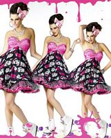 BabyDoll by MacDuggal Andy Warhol Faces Short Prom Dress 42504B image