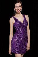 Alyce Deep V Sequin Cocktail Dress 4260 image