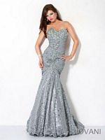Jovani Sparkle Mermaid Pageant Gown 4260 image