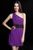 Alyce One Shoulder Bubble Short Homecoming Dress 4261 image