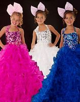 Sugar by MacDuggal Girls Halter Pageant Dress 42618S image
