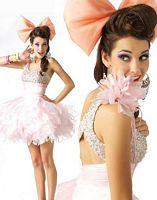 BabyDoll by MacDuggal One Shoulder Flower Short Prom Dress 42670B image