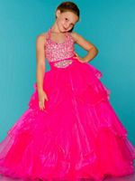 Sugar by Mac Duggal 42779S Stone Encrusted Girls Ball Gown image