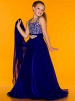 Sugar by Mac Duggal 42784S Girls Chiffon Pageant Dress image