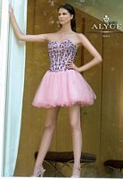 Alyce 4285 Sassy Short Tulle and Stone Party Dress image