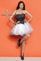 Alyce 4298 Short Party Dress with Sequin Corset image