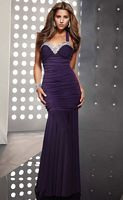 Jasz Couture Ruched Mermaid Beaded Evening Dress 4309 image