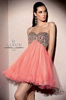 Alyce 4311 Empire A-Line Tulle Short Dress image