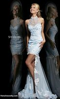 Sherri Hill 4314 High Low Cold Shoulder Dress image
