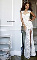 Sherri Hill 4316 Lace Illusion Formal Dress image