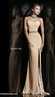 Sherri Hill 4321 Illusion Beaded Collar Gown image