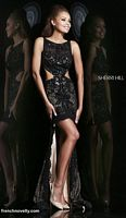 Sherri Hill 4324 High Low Cut Out Dress image