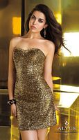Alyce 4342 Short Sequin Homecoming Dress image