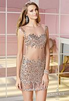 Alyce 4374 Cap Sleeve Sexy Sheer Beaded Short Dress image
