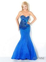 Jovani Strapless Beaded Evening Gown 4388 image