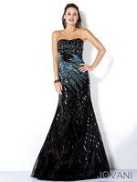 Jovani 4389 Beaded Mermaid Evening Dress image