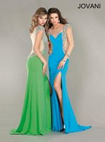 Jovani Short Sleeve Fitted Formal Dress 4515 image