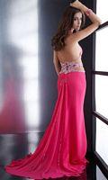 Size 2 Jasz Boldly Sexy Fuchsia Prom Dress with Waterfall Back 4557 image