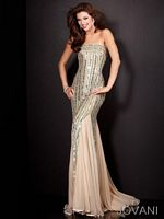 Jovani Fitted Gown 4603 with Mirror Sequins image