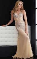 Size 4 Nude Jasz Shine Like the Stars Prom Dress 4614 image