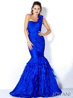 Jovani Ruffle Strap Mermaid Dress 4632 image