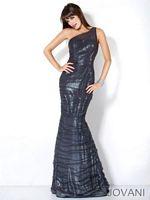 Jovani One Strap Mermaid Party Dress 4647 image