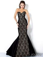 Jovani Lace Mermaid Formal Dress 4653 image