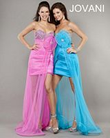 Jovani Rosette Gown 4657 with Beading image