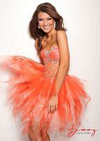 Jasz Homecoming Dress 4700 with Ripped Tulle Skirt image