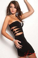 Jasz Sexy Cocktail Dress 4701 with Cutouts image